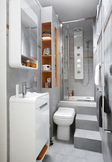 Amenagement petite salle de bain 4m2 - Idee salle de bain 4m2 ...