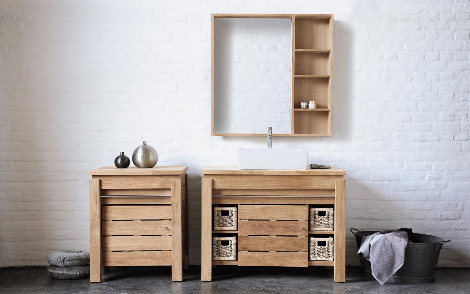 armoire salle de bain bois