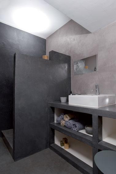 beton ciré pour salle de bain