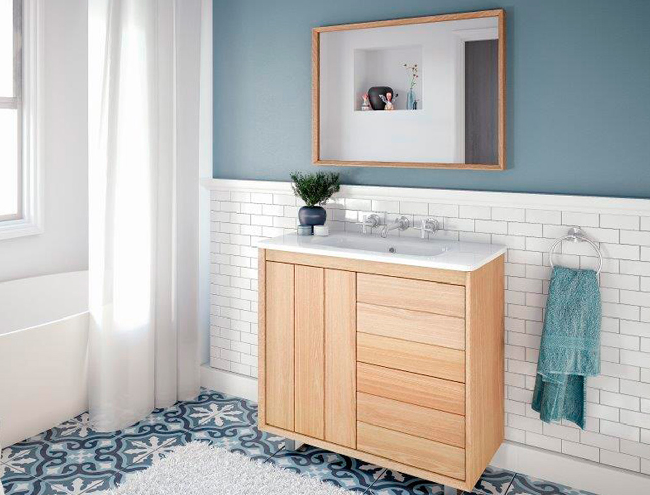 Maison du monde chambre bebe garcon for Parquet salle de bain bambou