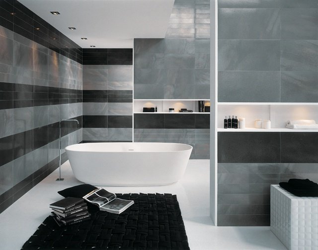 carrelage de salle de bain moderne. Black Bedroom Furniture Sets. Home Design Ideas