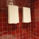 Carrelage rouge salle de bain
