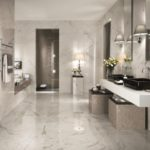 Carrelage salle de bain marbre