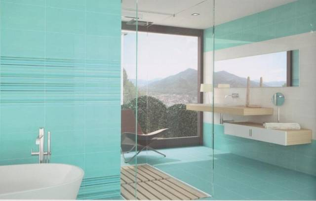 carrelage salle de bain turquoise. Black Bedroom Furniture Sets. Home Design Ideas