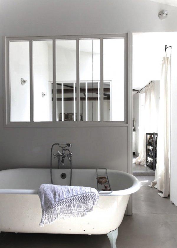 cloison vitr e salle de bain