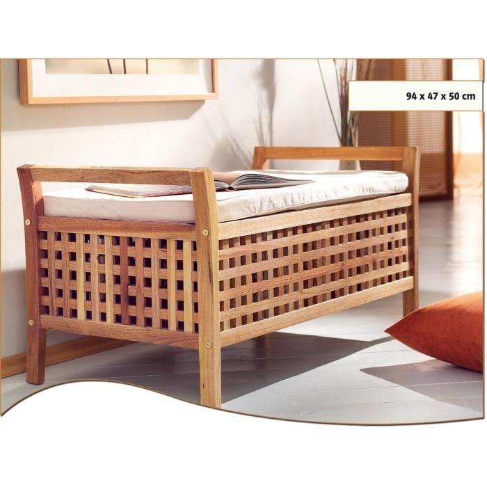 Banc salle de bain - Tabouret coffre salle de bain ...