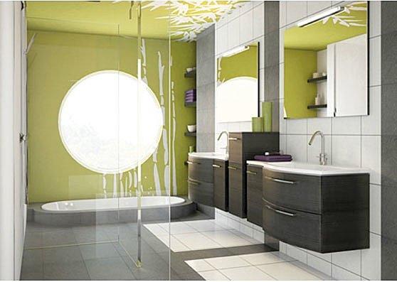 Couleur tendance pour salle de bain - Couleur de peinture pour salle de bain ...