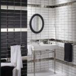 Faience salle de bain noir et blanc