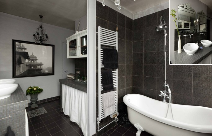 Id e d co salle de bain moderne for Photos decoration salle de bain moderne