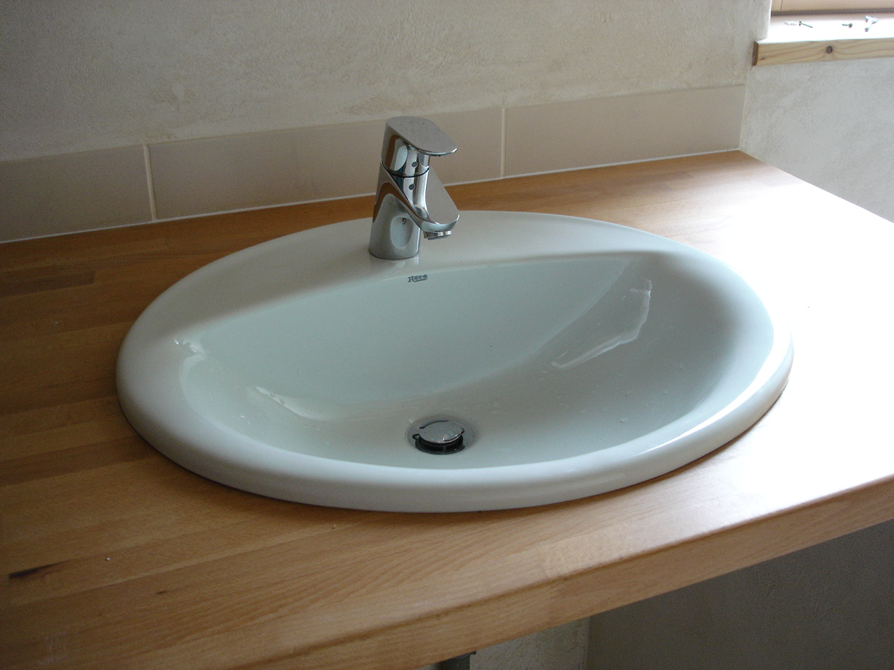 Lavabo encastrable for Salle de bain orthographe