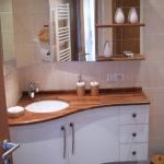 Meuble de salle de bain angle