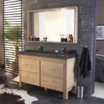 Meuble de salle de bain en chene