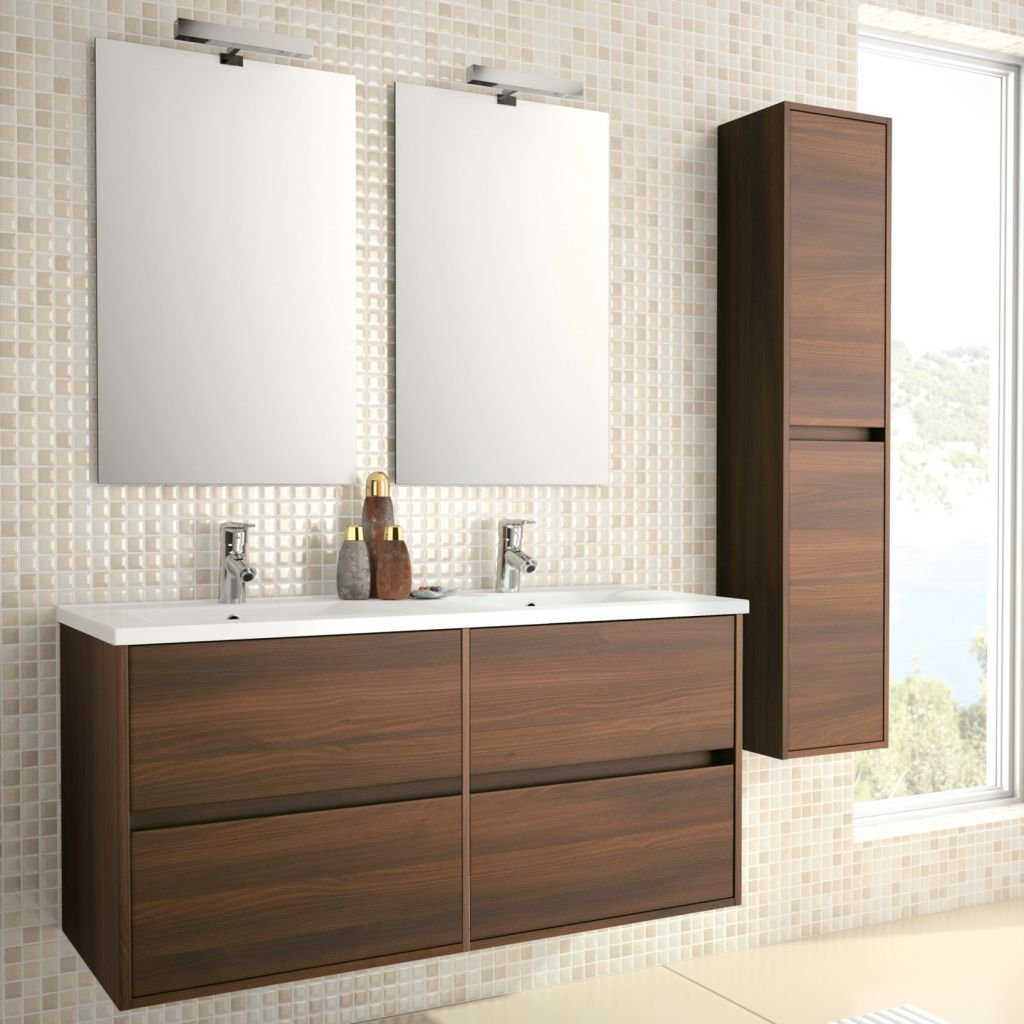 Meuble de salle de bain wenge for Model de sal de bain