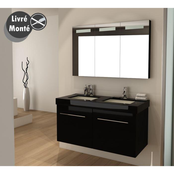 Meuble double vasque salle de bain pas cher for Double vasque salle de bain pas cher
