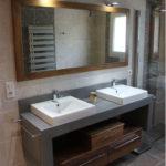 Meuble salle de bain beton cire