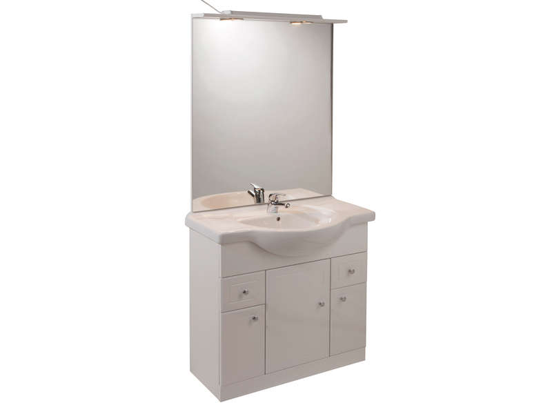 Meuble De Salle De Bain Mural Meuble salle de bain blanc