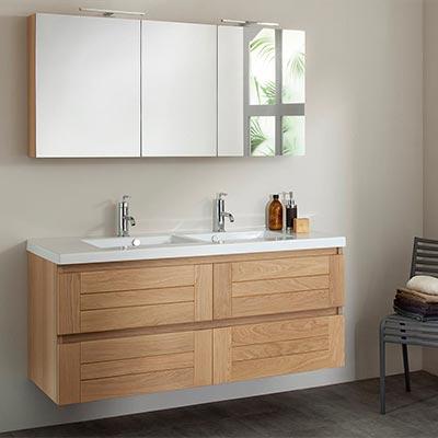 meuble salle de bain en bois. Black Bedroom Furniture Sets. Home Design Ideas