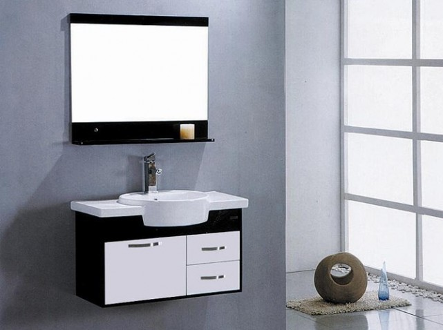 meuble salle de bain moderne pas cher. Black Bedroom Furniture Sets. Home Design Ideas