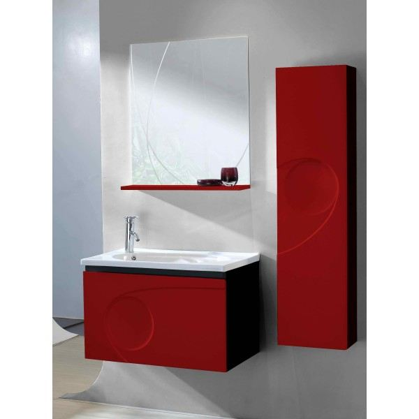 meuble salle de bain rouge pas cher. Black Bedroom Furniture Sets. Home Design Ideas