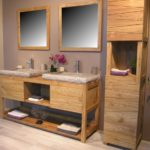 Meuble salle de bain teck ikea