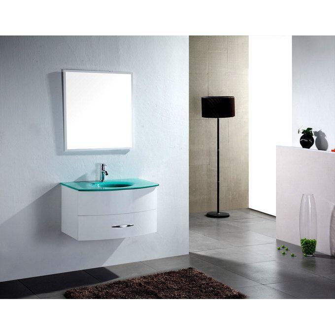 meuble salle de bain verre
