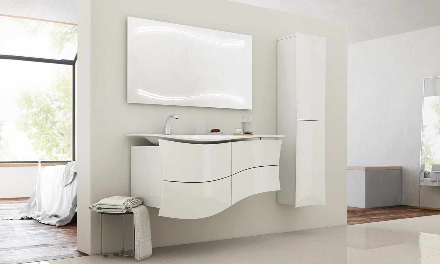 Meuble salle de bain leroy merlin for Salle de bain leroy merlin photo