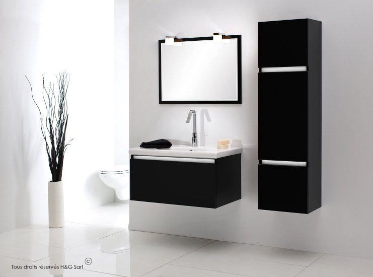 meubles salle de bain noir