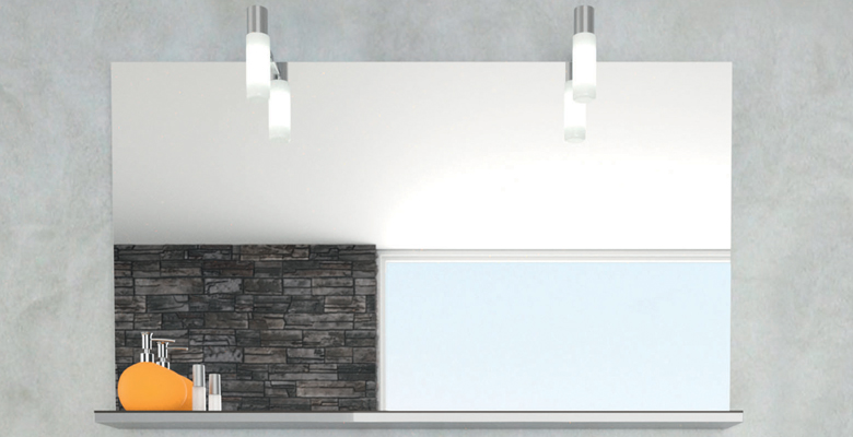 miroir avec tablette salle de bain
