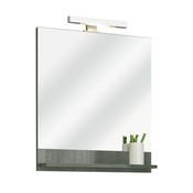 miroir salle de bain avec eclairage et tablette
