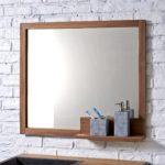 Miroir salle de bain cadre bois