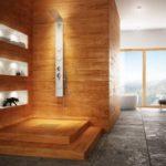 Revetement mural bois salle de bain