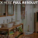 Salle de bain bois exotique