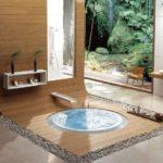 Salle de bain bois zen
