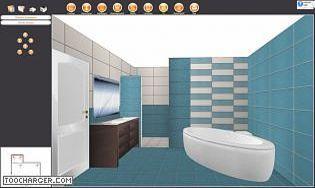 Simulation carrelage salle de bain Simulation salle de bain 3d