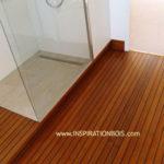 Sol salle de bain sur plancher bois