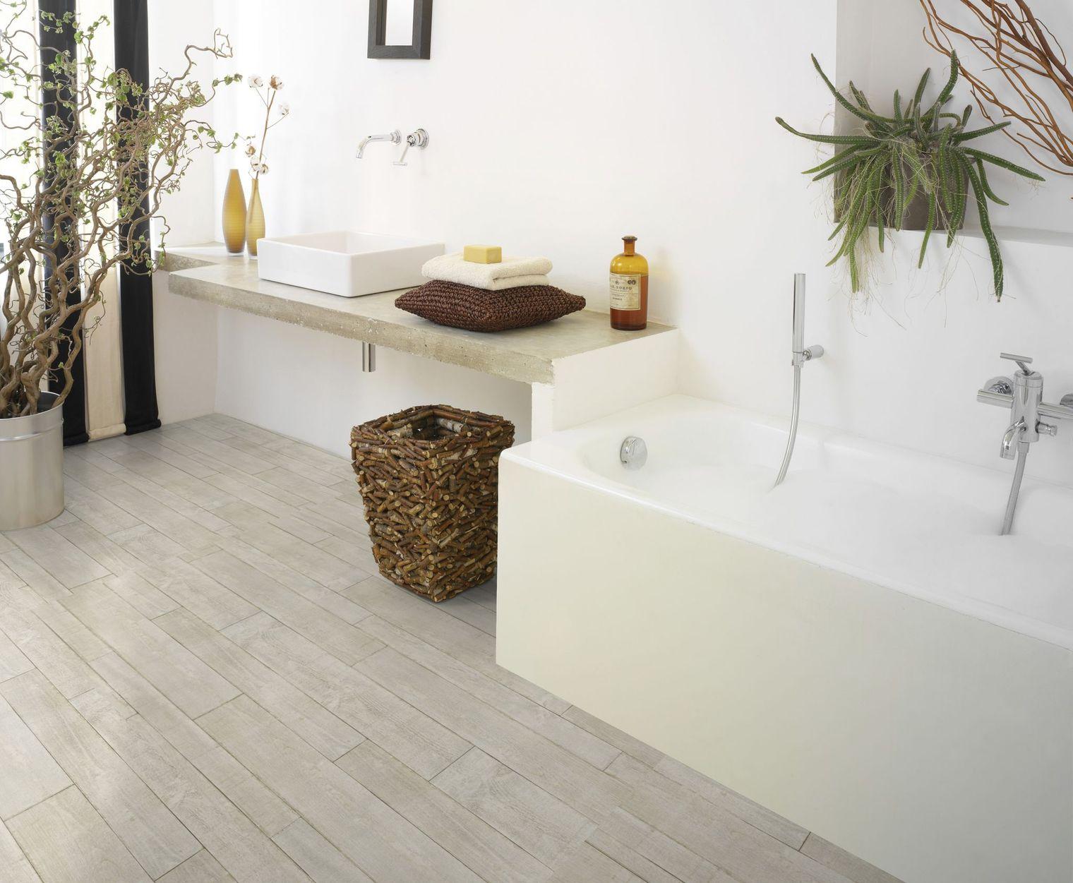 sol vinyle pour salle de bain