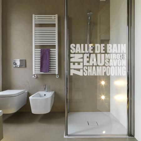 Stickers salle de bain douche - Mini salle de douche ...