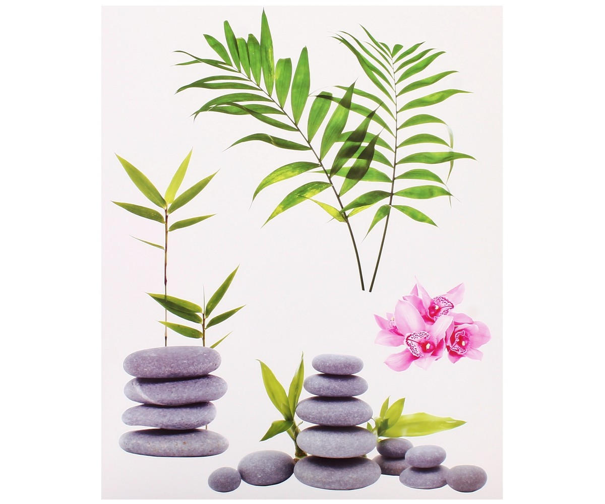 Stickers zen salle de bain for Miroir zen nature