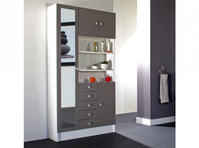 armoire de salle de bains maison design. Black Bedroom Furniture Sets. Home Design Ideas