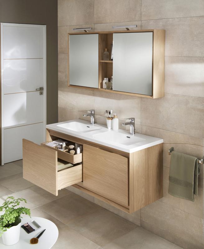Armoire salle de bain lapeyre for Armoire de salle de bain bois