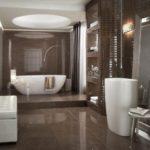 Deco salle de bain marron