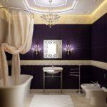Faux plafond salle de bain