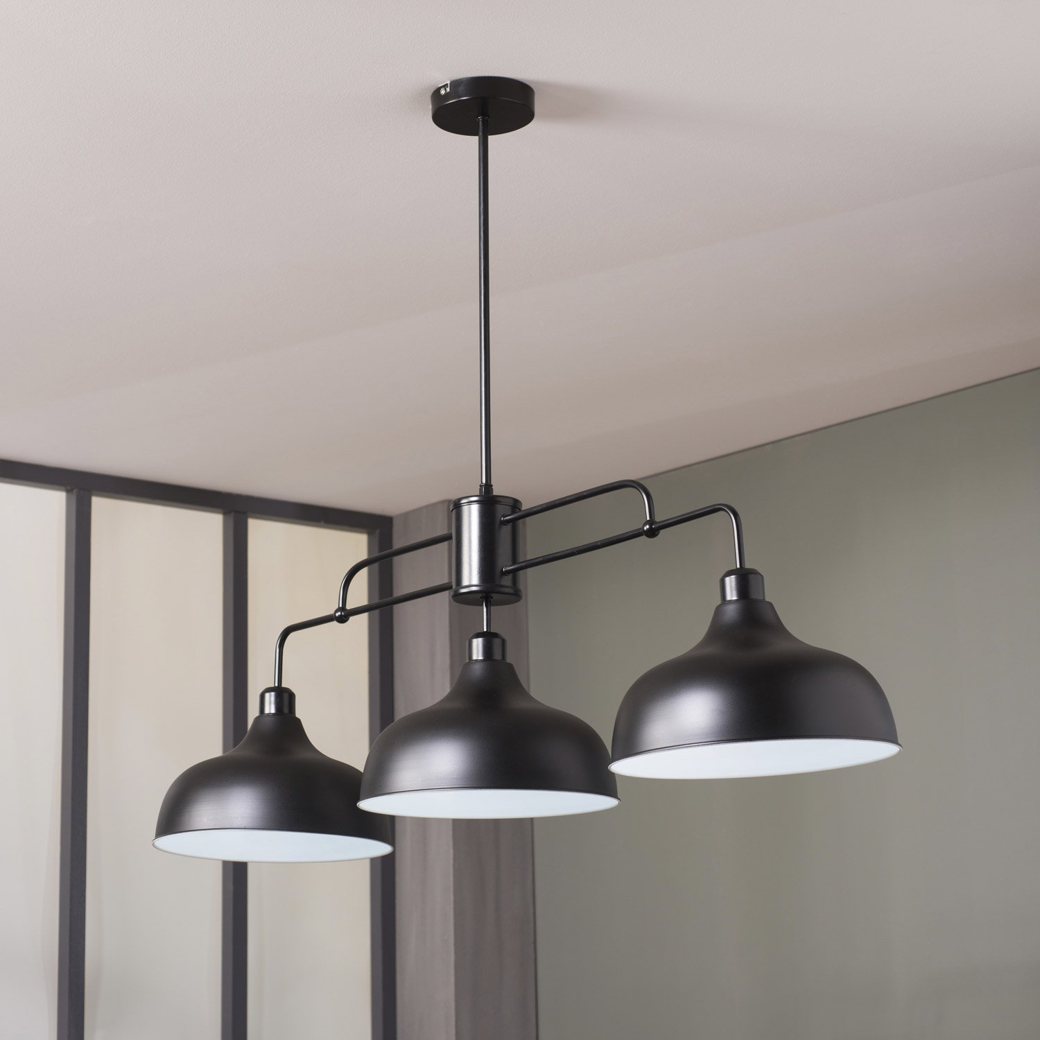 Luminaire leroy merlin for Luminaire suspension salon