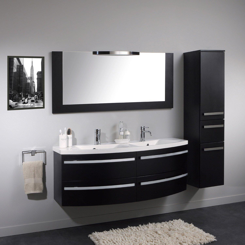 meuble salle de bain gris leroy merlin