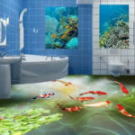 Peinture 3d salle de bain