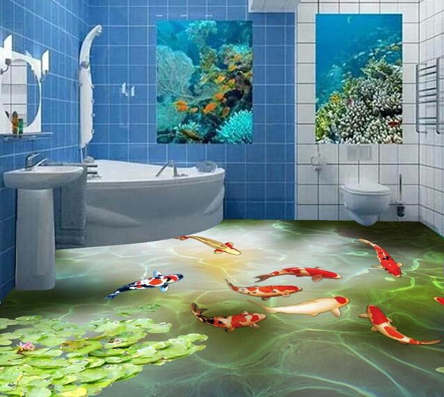 Peinture 3d salle de bain for Salle de bain sol 3d