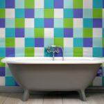 Salle de bain coloré