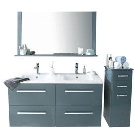 meuble salle de bain double vasque castorama