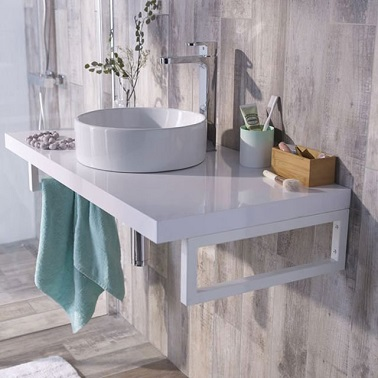 plan de travail salle de bain castorama