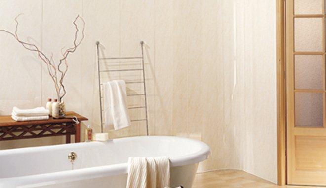 salle de bain en lambris pvc